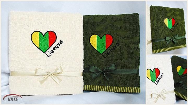Lietuva - Mūsų Visų Širdyse! Siuvinėtas rankšluostis