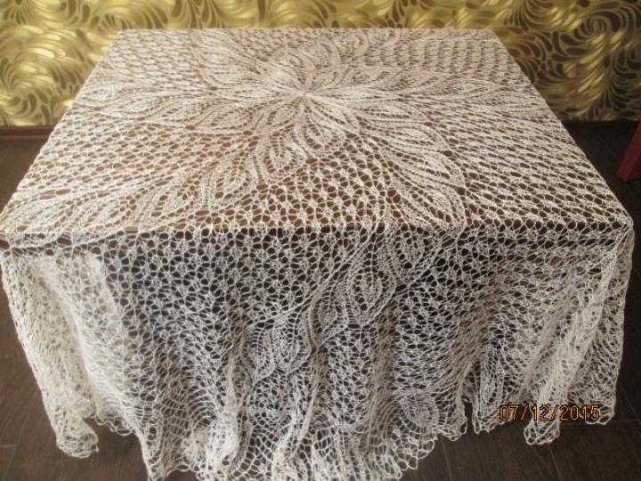Lininė staltiesė malūnėlis