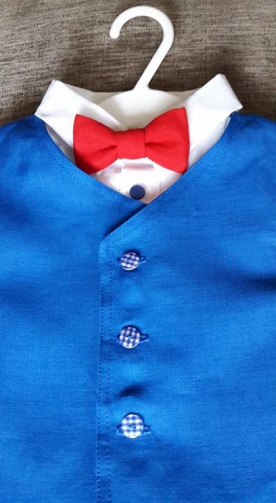 Lininis kostiumėlis berniukui