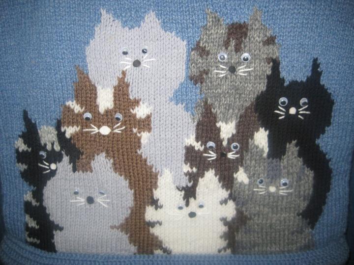 """Megzta rankinė """"Katinukai"""""""