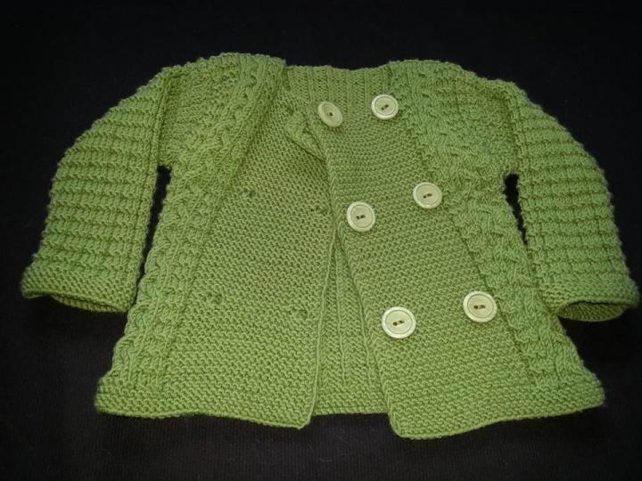 Megztas megztinis - žalias