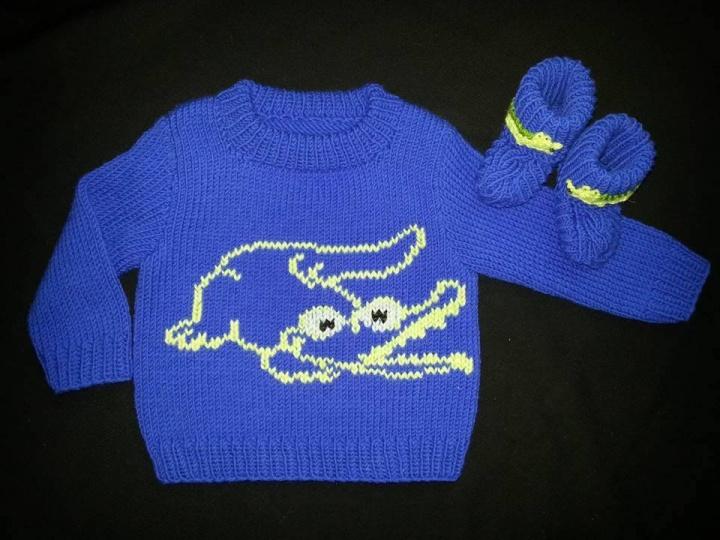 Megztinis krokodiliukas ir tapukai