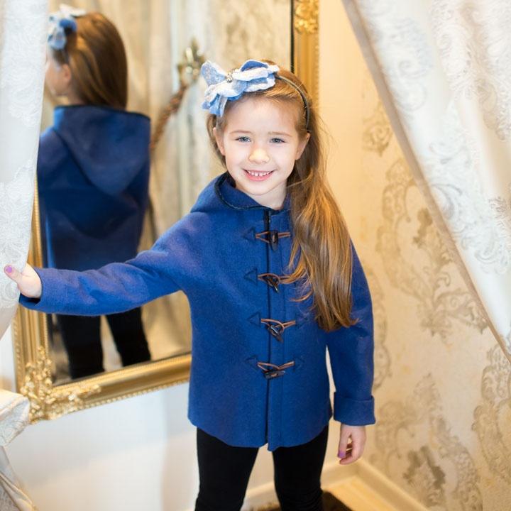 Mėlynas paltukas mergaitei ar berniukui