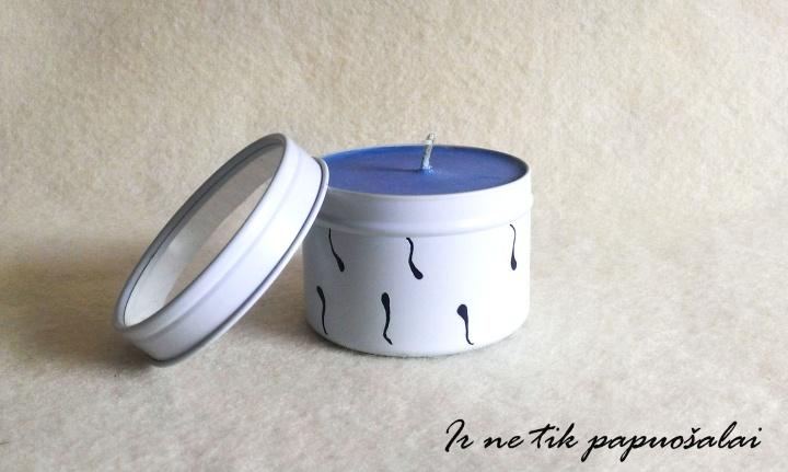 Natūrali rankų darbo žvakė