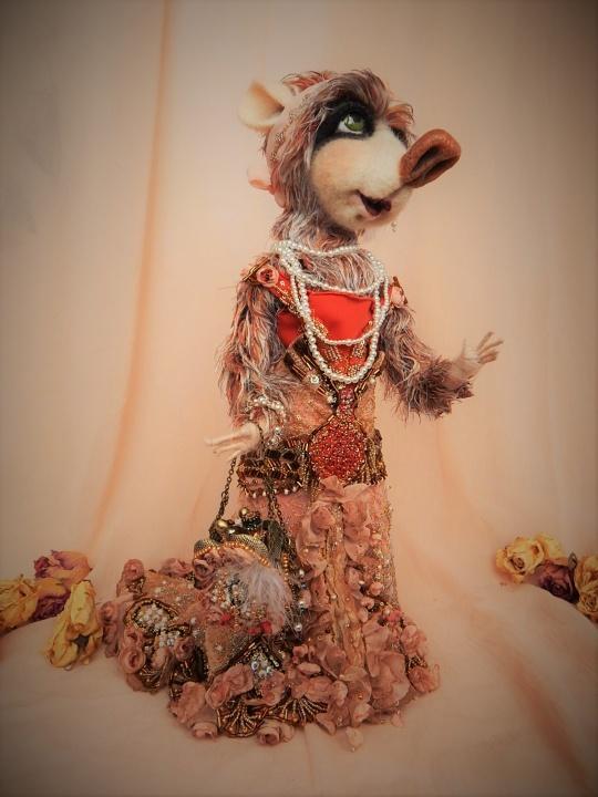 Nerta pelytė / Slaptoji nykštukė Lėlininkė ir jos lėlės - interjerinė lėlių kompozicija