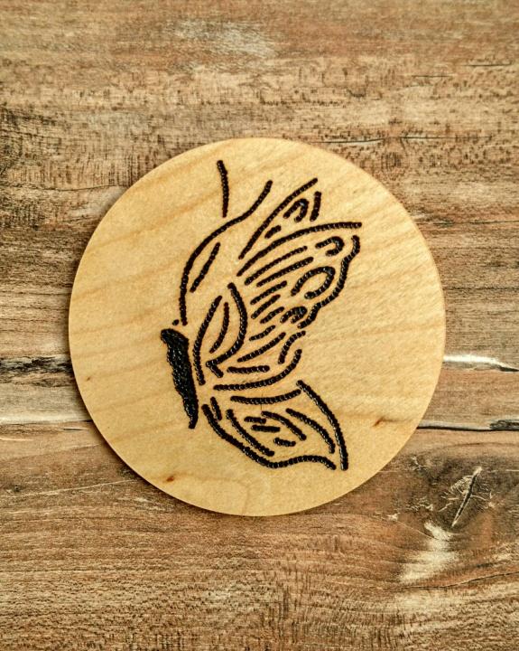 Padėkliukas - drugelis