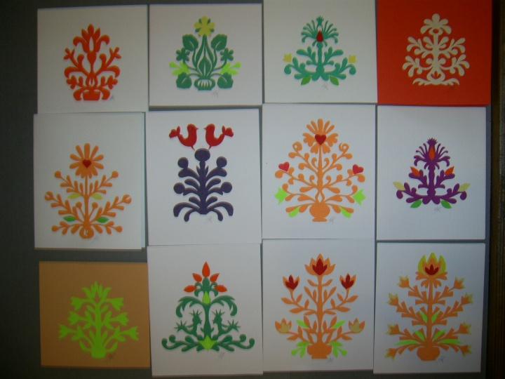 Pavasaris - atvirukai su karpinių gėlėmis