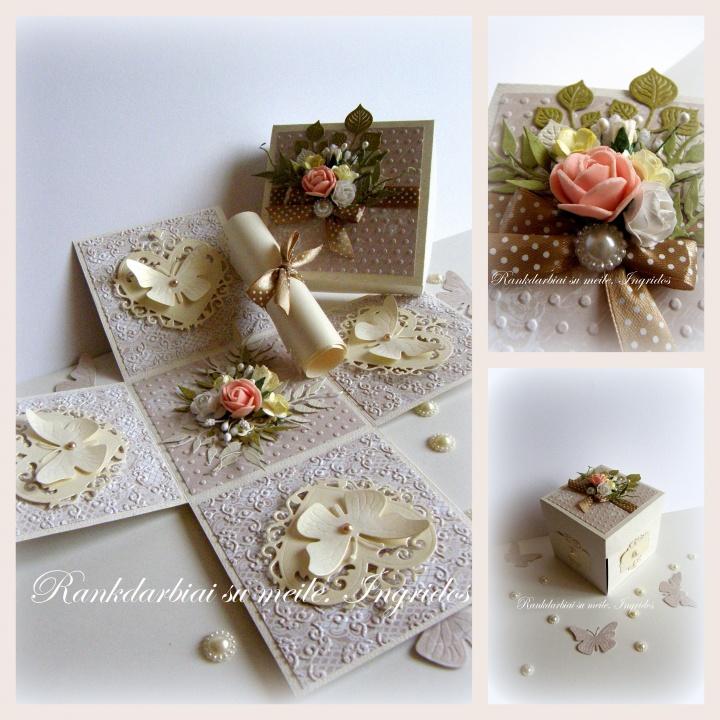 Prabangi dėžutė- staigmena vestuvėms