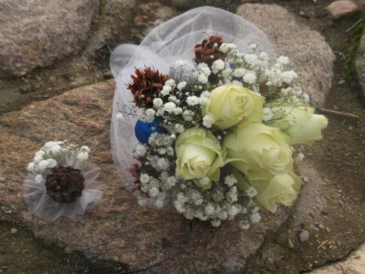 puokštės žiemiškoms vestuvėms