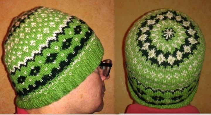 Raštuota šilta kepurė