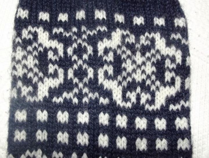 Raštuotos šiltos kojinės