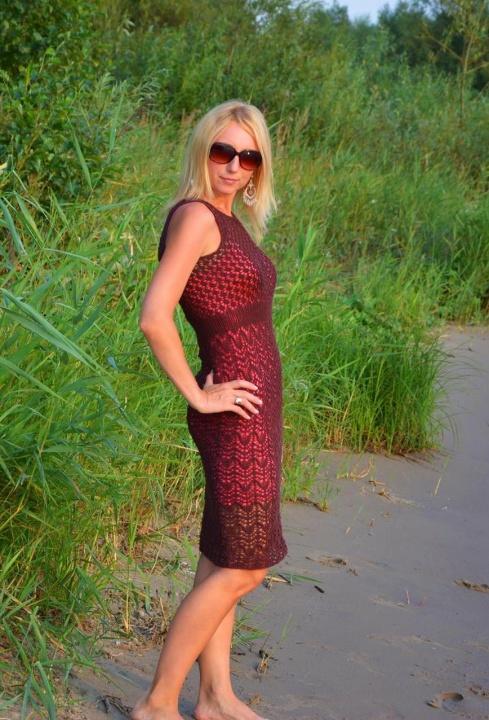 Ruda kiauraraštė suknelė