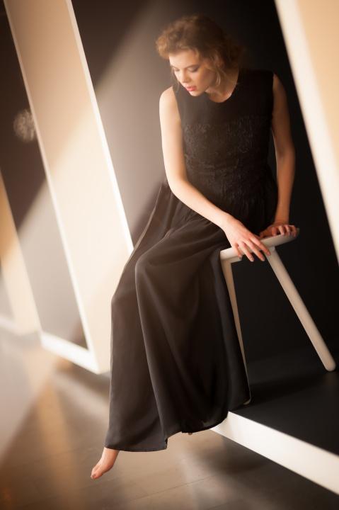 Silko ir vilnos sventine suknele