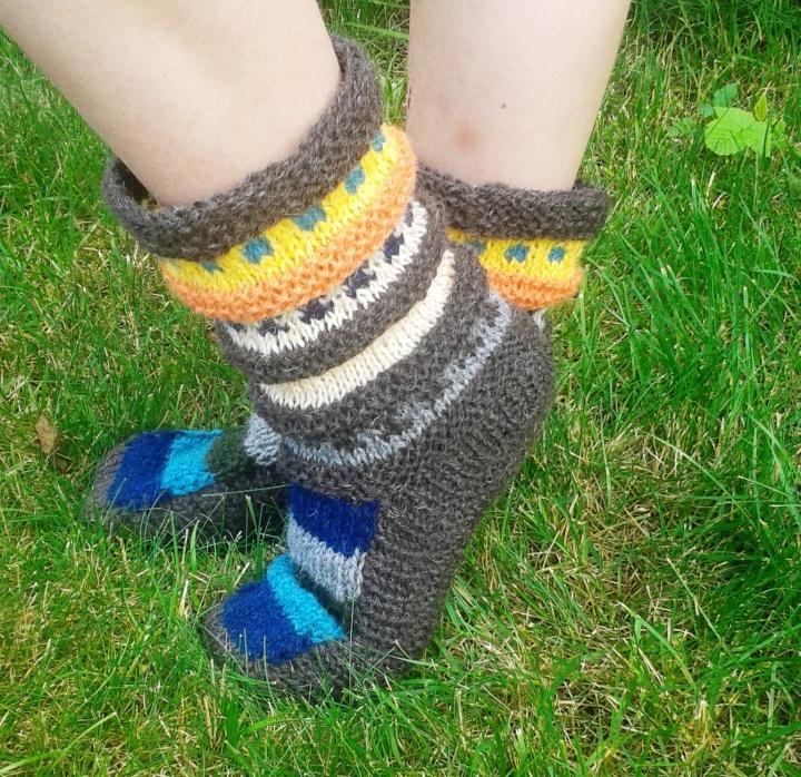 Šiltos storos kojinės
