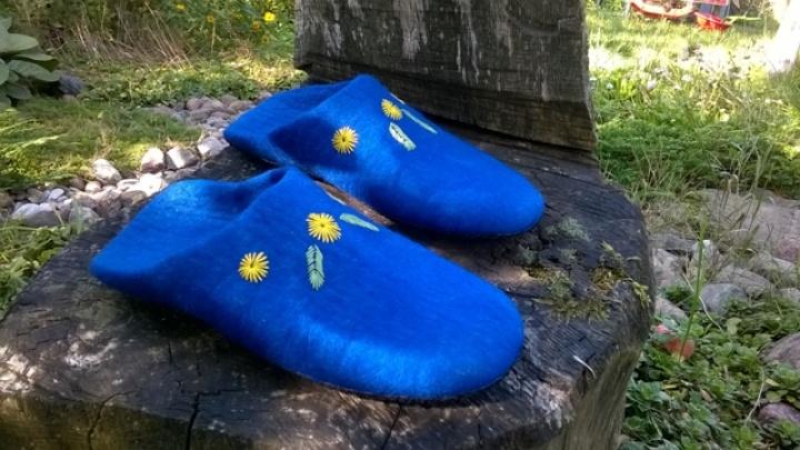 Šlepetės- mėlynukės
