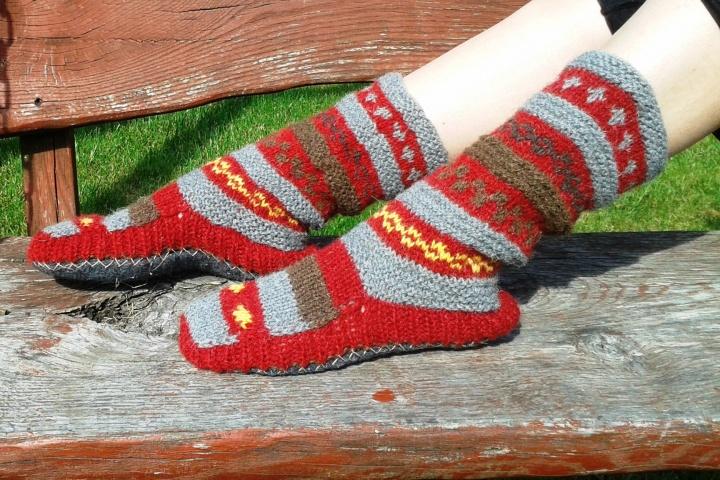 Storos šiltos kojinės