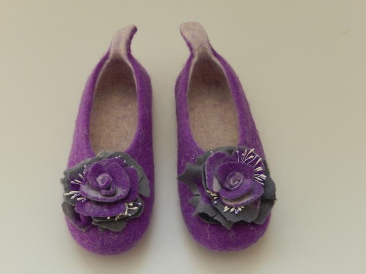 Tapkutės  Violetinė su rože