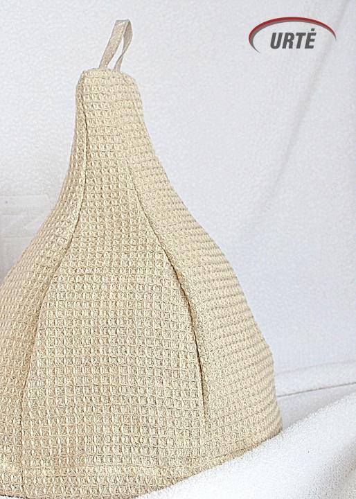 Vaflinė lininė kepurė pirčiai