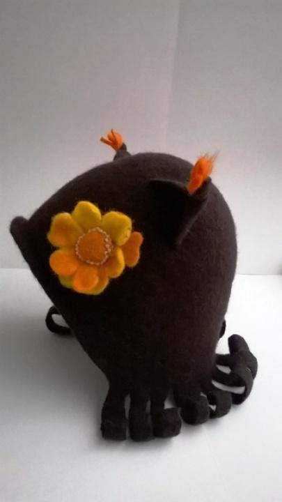 """Velta kepurytė- kaukė """"Voverytė"""""""