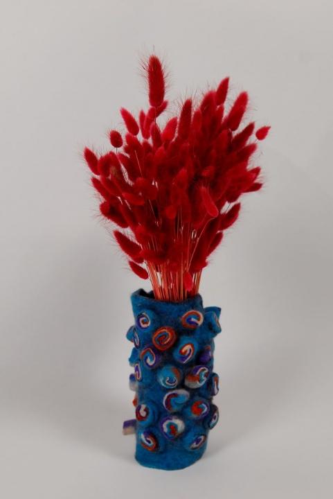 "Velta mėlyna vaza, interjero detalė "" ryto kvapas"""