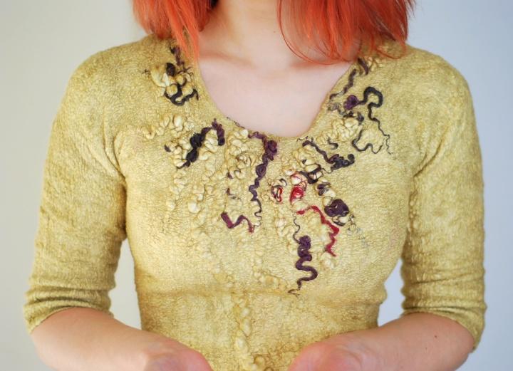 Velta rudeninė suknelė