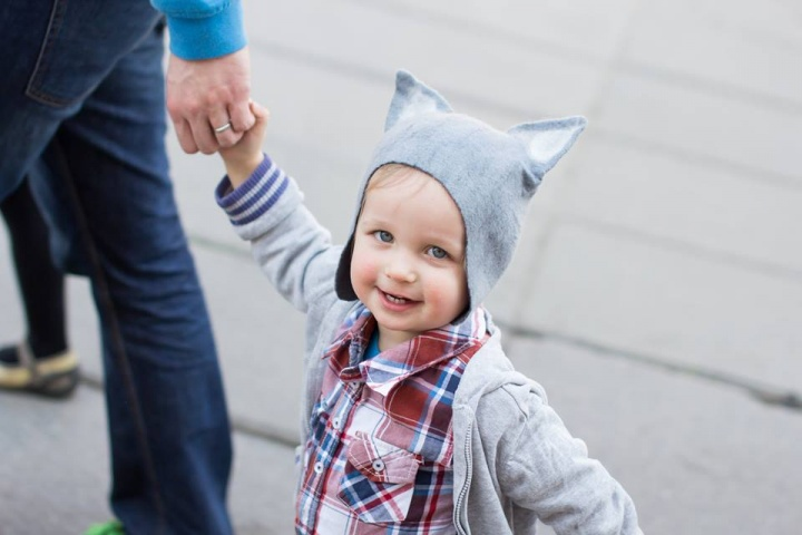 Velta vilko kepurė vaikui