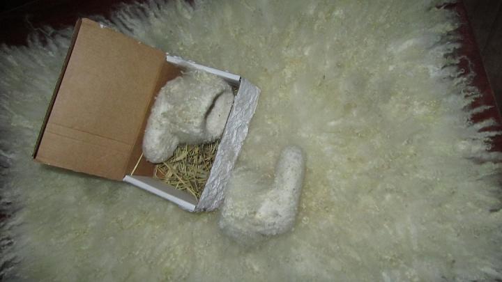 Veltas kilimėlis ir veltinukai mažam leliukui