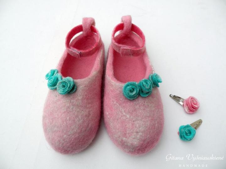 "Velti rožiniai batukai ""Ledinukai"""