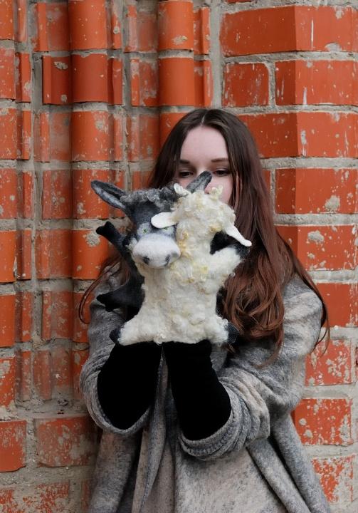"""velti žaislai ant rankos """"draugai"""" ąsilas ir avis"""