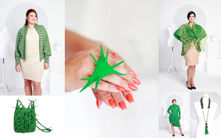 Veltinio žiedas 'Kaktusinis'