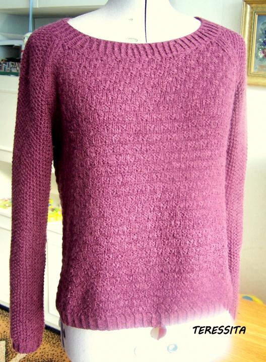 Violetinis megztinukas