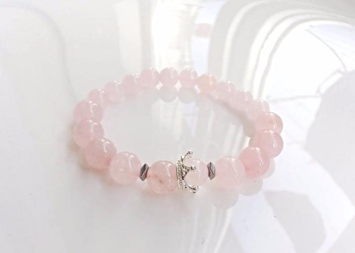 Apyrankė su karūna rožinio kvarco