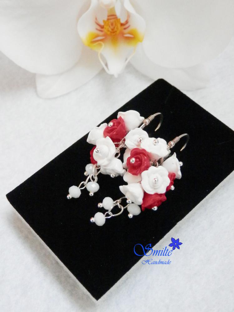 Auskarai rožės