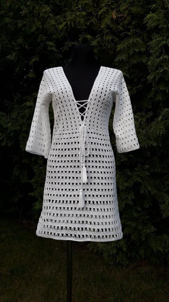 Balta paplūdimio suknelė