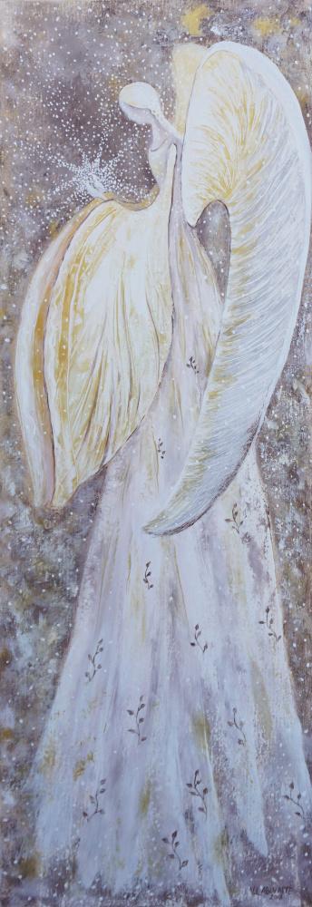Baltas angelas 35x100