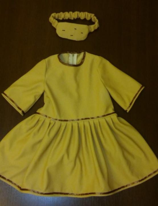 Bulvės karnavalinis kostiumas mergaitei