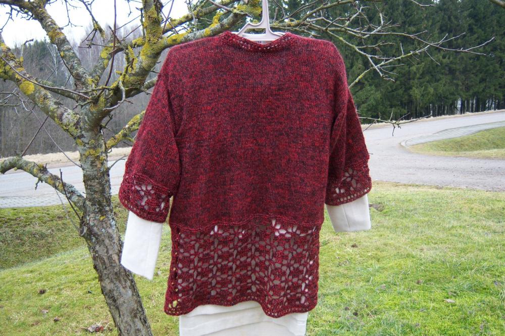 Burgundiskas ilgas megztinis