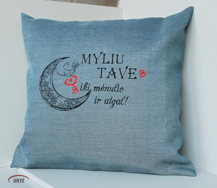 """Dekoratyvinė pagalvėlė """"Myliu Tave"""""""