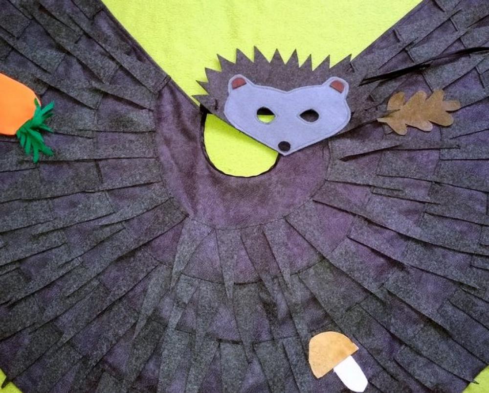 Ežio, ežiuko vaikiškas karnavalinis kostiumas 2