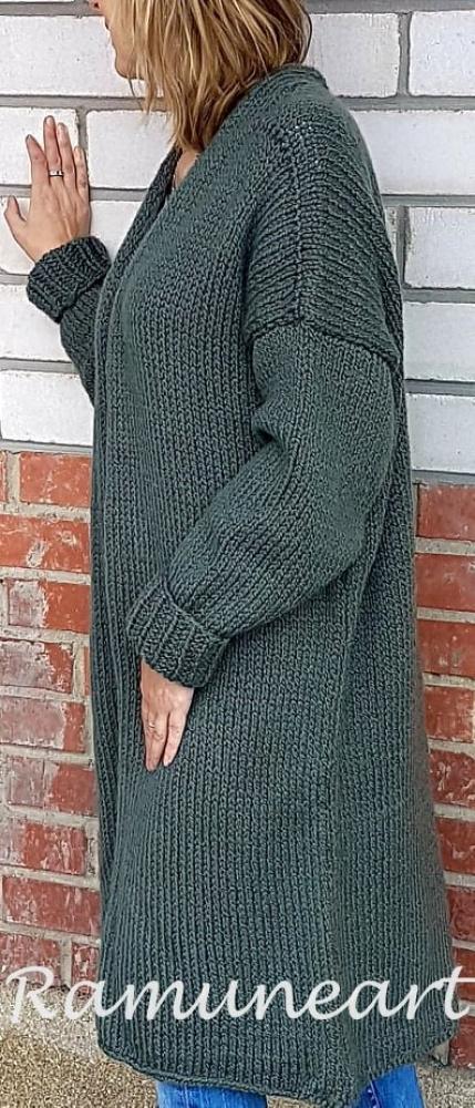 Ilgas megztinis - kardiganas