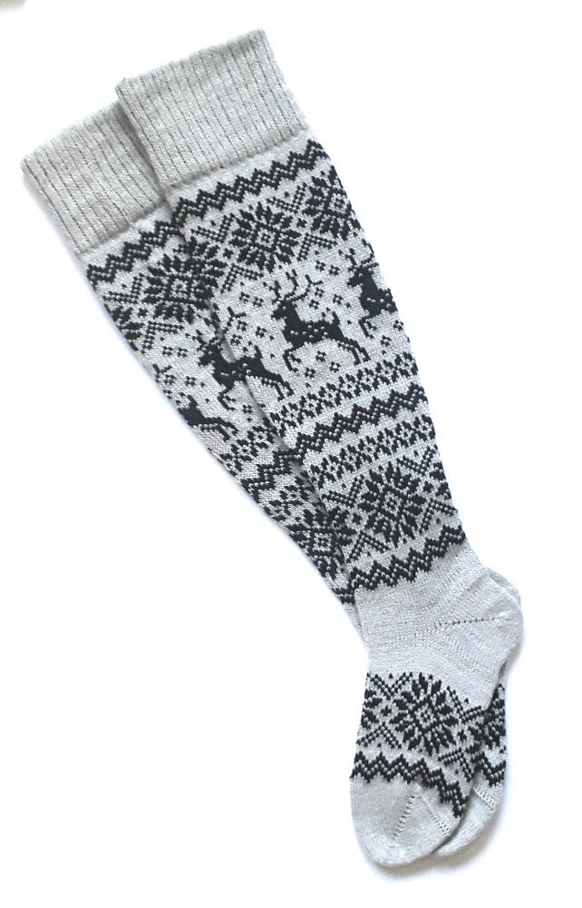 Ilgos kojinės su elniais