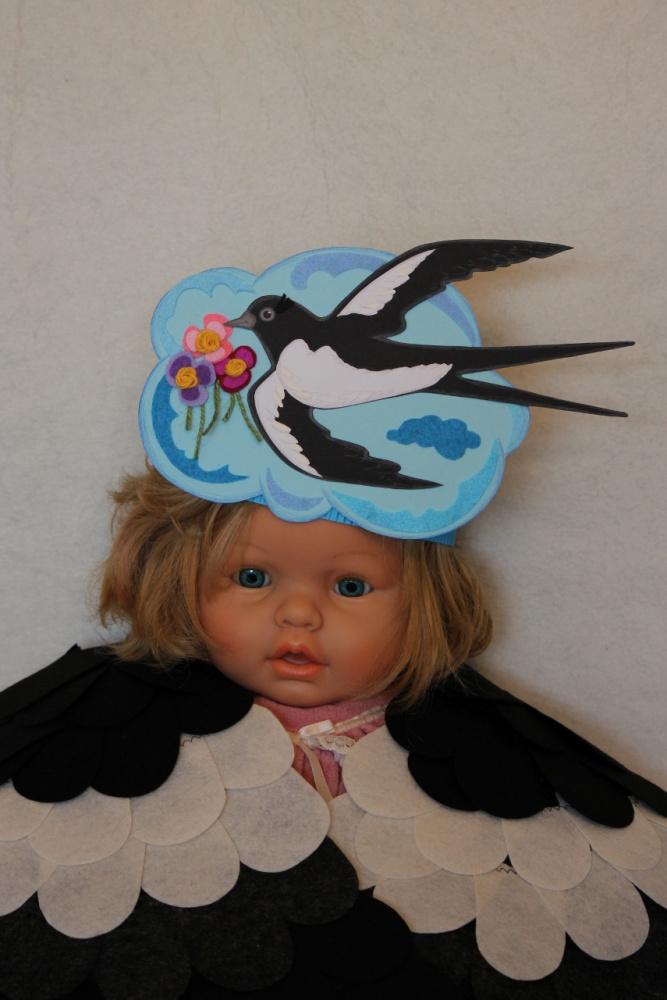 Išskirtinė karūna Paukštelis Kregždutė vaikučių šventėms, vaidinimams