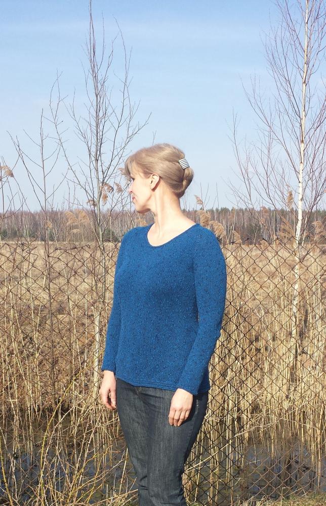 jūros bangos megztinis