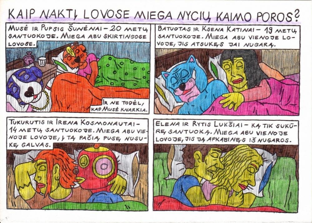 Kaip naktį lovose miega Nycių kaimo poros?