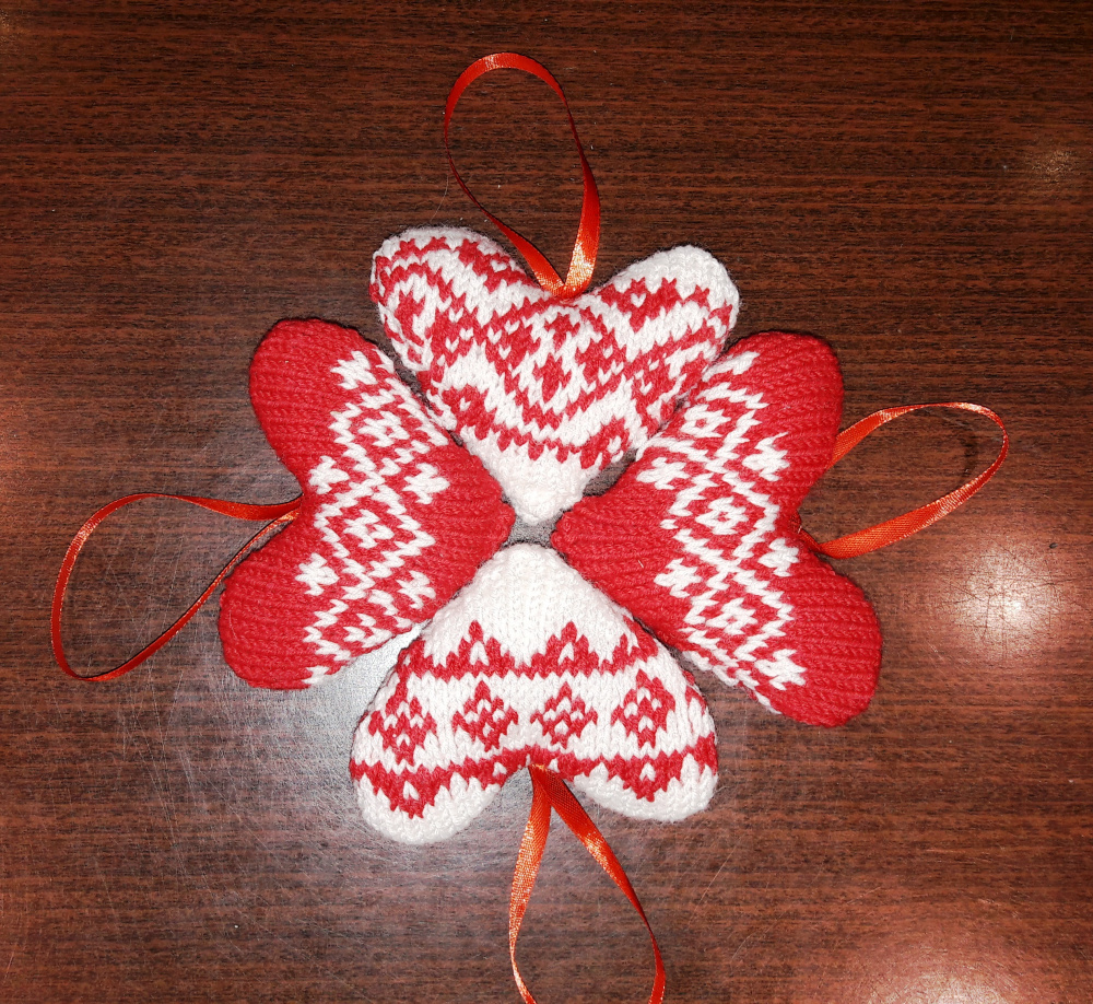 Kalėdinės širdelės