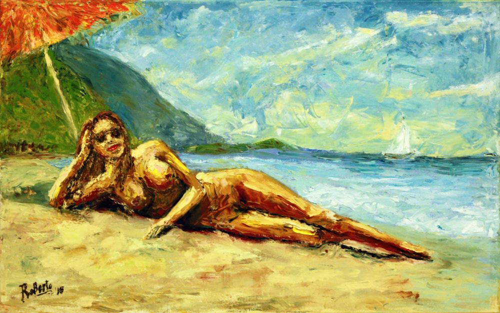 Karštas vasaros paplūdimys