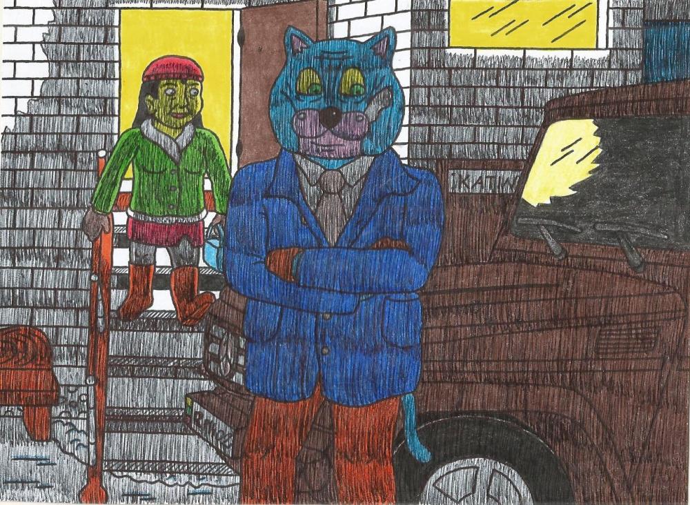 Katinai ruošiasi vykti į kaimo biliardinę, sutikti ten Naujus