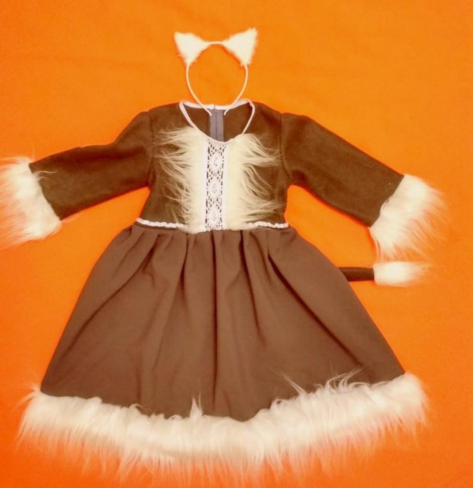 Katytės, katės karnavalinis kostiumas mergaitei 2