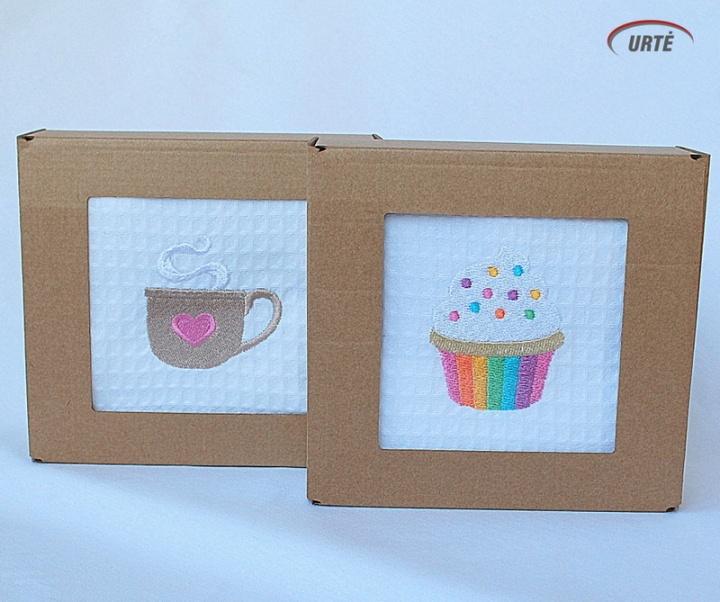 Kavos pertraukėlė - vafliniai virtuviniai rankšluostukai