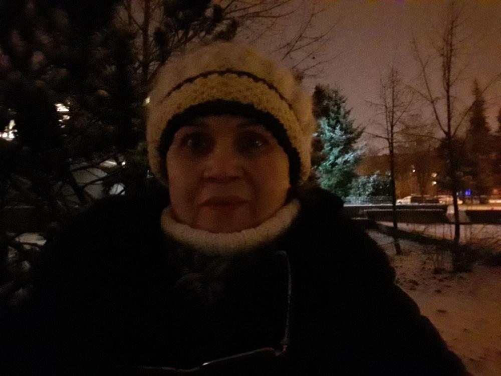 """Kepurė megzta virbalais """"Pirmas žiemos vakaras"""""""